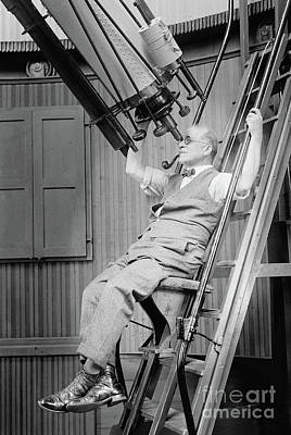 Photograph - Dr David Todd At Georgetown Observatory, 1924 by American School