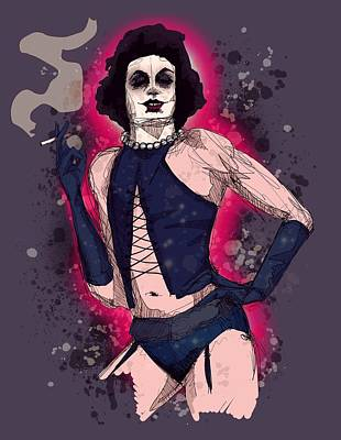 Drawing - Dr. Frank-n-furter  by Ludwig Van Bacon
