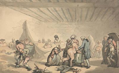 Drawing - Dr Graham's Bathing Establishment by Thomas Rowlandson