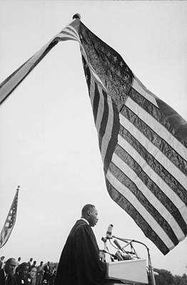 Photograph - Dr. King Delivers Give Us The Ballot by Paul Schutzer