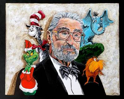 Painting - Dr Suess by Joel Tesch