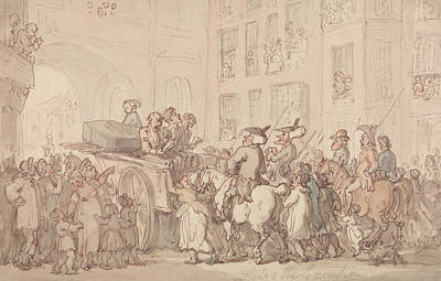 Drawing - Dr. Syntax Attends The Execution by Thomas Rowlandson