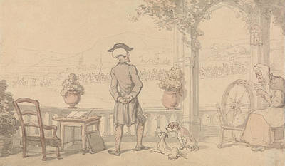Drawing - Dr. Syntax Soliloquising by Thomas Rowlandson