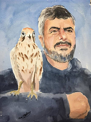 Painting - Dr Yoossef And Hawk by Mimi Boothby