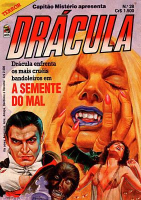 Wall Art - Digital Art - Dracula Comic Book Cover by Nilton Mendonca