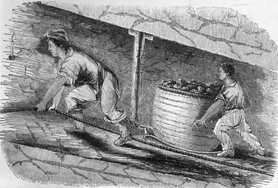 Dragging Coal Art Print by Hulton Archive
