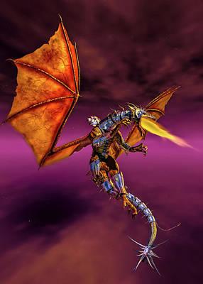 Digital Art - Dragon Rider C by Bob Orsillo