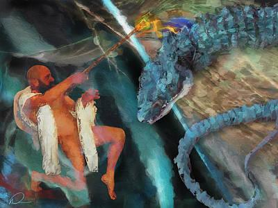 Digital Art - Dragon Taming by David Derr