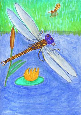 Painting - Dragonfly by Dobrotsvet Art