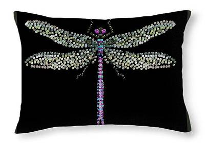 Digital Art - Dragonfly Pillow by R  Allen Swezey
