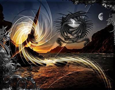 Digital Art - Dragons Kiss by Michael Damiani