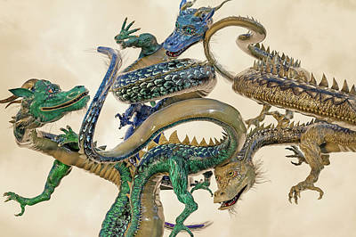Fantasy Royalty-Free and Rights-Managed Images - Dragons  by Betsy Knapp