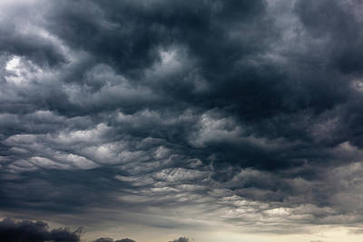 Photograph - Dramatic And Dark Storm Clouds by Vm