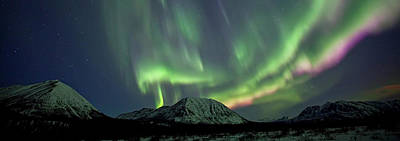 Photograph - Dramatic Aurora Borealis Display Over by Robert Postma