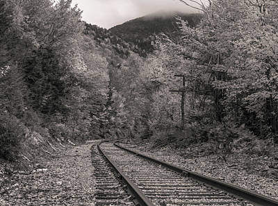 Photograph - Dramatic Black And White Train Tracks by Dan Sproul