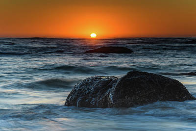 Photograph - Dramatic Bold Sunrise Seascape by Merrillie Redden