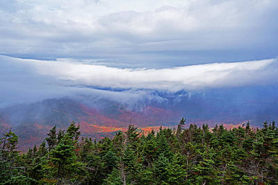 Photograph - Dramatic Clouds From Alonguin Peak Autumn Mountains by Toby McGuire