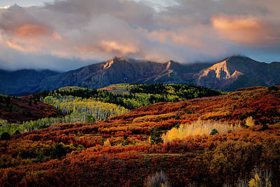Photograph - Dramatic Colorful Fall Sunrise In Colorado San Juan Mountains by Teri Virbickis