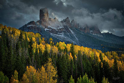 Photograph - Dramatic Skies Over Chimney Rock.  by Richard Raul Photography