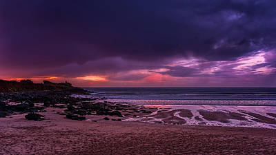 Dramatic Sky At Porthmeor Art Print