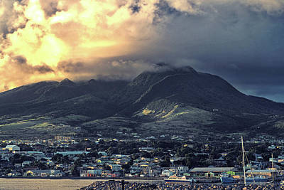 Photograph - Dramatic Sky Over Basseterre, St. Kitts Island by Bill Swartwout Photography
