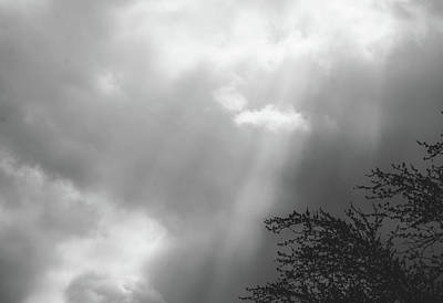 Photograph - Dramatic Sunbeams #blackwhite by Andrea Anderegg