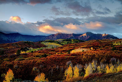 Photograph - Dramatic Sunrise In The San Juan Mountains Of Colorado by Teri Virbickis