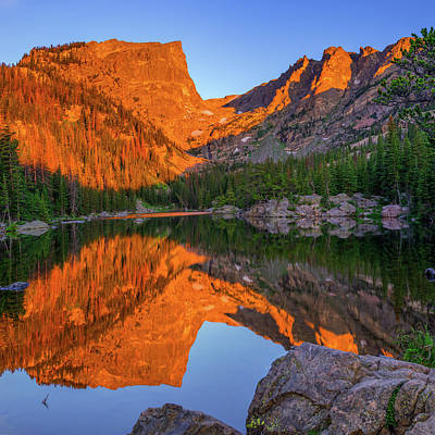 Photograph - Dream Lake Morning Light - Colorado by Gregory Ballos