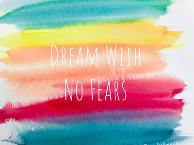 Painting - Dream With No Fears. Watercolor Background by Mahsa Watercolor Artist