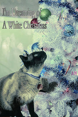 Mixed Media - Dreaming Of White Christmas by Theresa Campbell
