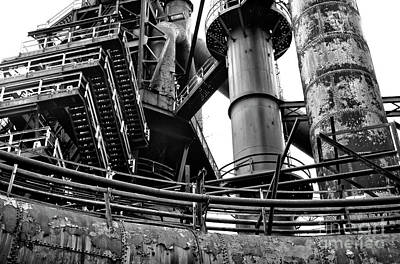 Photograph - Dreams Made Of Iron At Bethlehem Steel by John Rizzuto