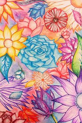 Painting - Dreams Of Spring Flowers by Lisa Bunsey