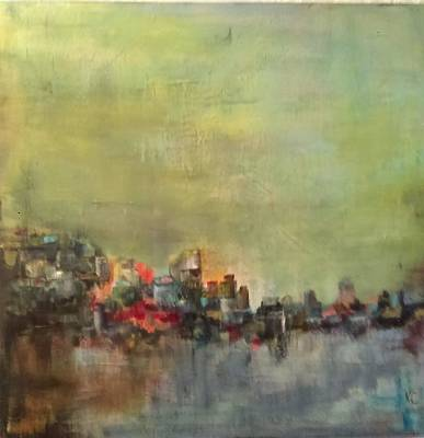 Painting - On The Waterfront by Katherine Cobb
