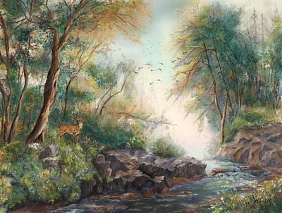 Digital Art - Dreamy Creek by Susan Kinney