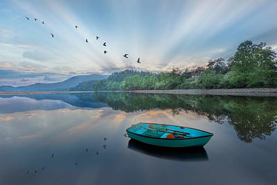 Photograph - Dreamy Floating Blues by Debra and Dave Vanderlaan