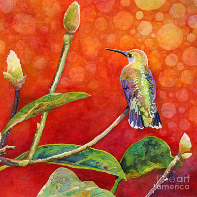 Animal Paintings David Stribbling - Dreamy Hummer by Hailey E Herrera
