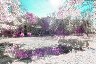 Photograph - Dreamy Infrared Grist Mill by Brian Hale