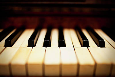 Dreamy Piano Keys Art Print by Rapideye