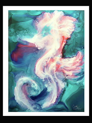 Painting - Dreamy Sea Horse by Cathlyn Driscoll