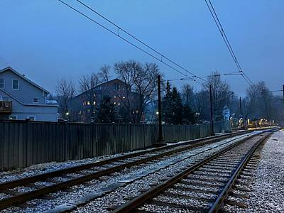 American Milestones - Dreary Day on the Tracks by Doug Swanson