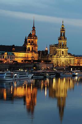 Photograph - Dresden Brühl`s Terrace With Hofkirche by Rolphus