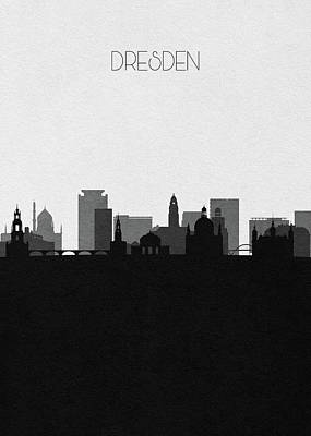 Digital Art - Dresden Cityscape Art by Inspirowl Design