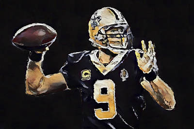 Painting - Drew Brees by Dan Sproul