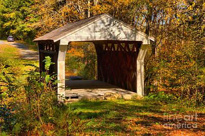 Photograph - Drewsville Covered Bridge by Adam Jewell