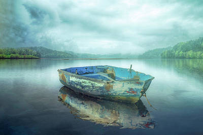 Photograph - Drifting On A Misty Morning In The Fog by Debra and Dave Vanderlaan