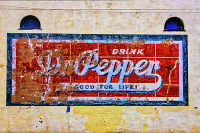 Photograph - Drink Dr. Pepper Sign by Garry Gay