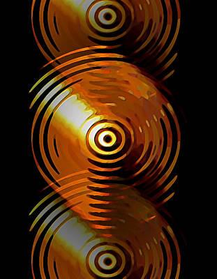 Digital Art - Dripping Gold by David Manlove