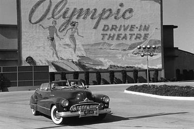 Mode Of Transport Photograph - Drive-in by Kurt Hutton