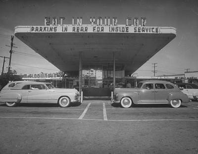 Photograph - Drive-in-restaurant, In Los Angeles Subu by Loomis Dean
