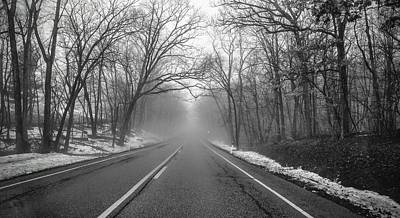 Photograph - Driving Into The Fog by Ricky L Jones